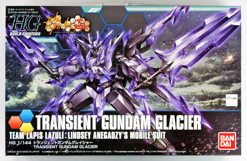 Bandai HG Build Fighters 050 TRANSIENT GUNDAM GLACIER Team Lapis Lazuli: Lindsey Anegaozy's Mobile Suit 1/144 scale kit