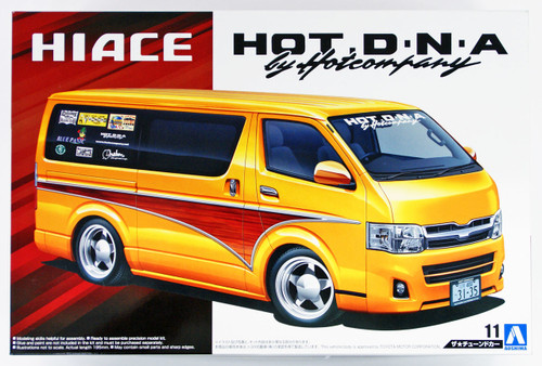 Aoshima 52372 Hot Company TRH200V HIACE '12 1/24 scale kit