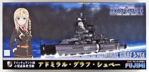 Fujimi 470221 High School Fleet-Easy Small Direct Edu. Ship Admiral Graf Spee 1/700 scale kit
