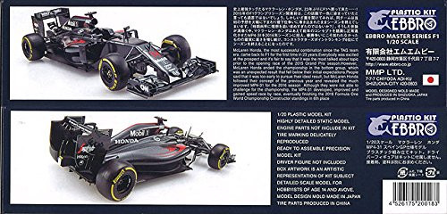 Ebbro 20018 McLAREN HONDA MP4-31 2016 Spanish G.P. 1/20 scale plastic model kit