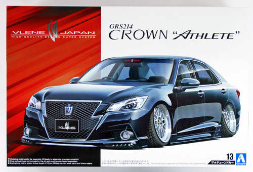 Aoshima 08560 Vlene GRS214 Crown Athlete G '12 (TOYOTA) 1/24 scale kit