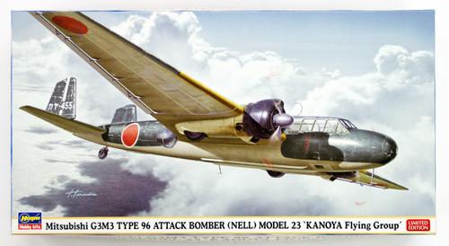 Hasegawa 02218 Mitsubishi G3M3 Type 96 Attack Bomber Model 23 Kanoya 1/72 scale