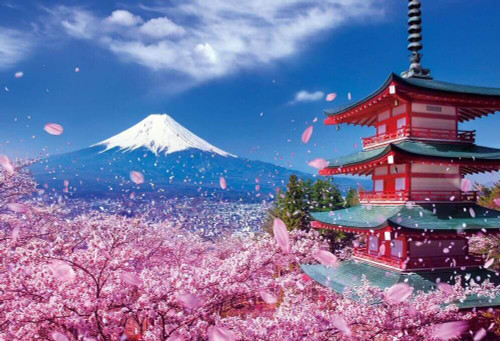 Beverly Jigsaw Puzzle 51-226 Japanese Scenery Mt.Fuji Asama Shrine (1000 Pieces)