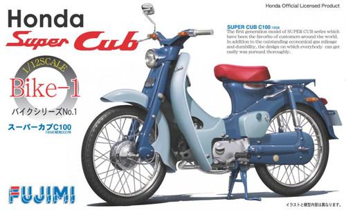 Fujimi Bike-01 Honda Super Cab C100 1958 1/12 Scale Kit