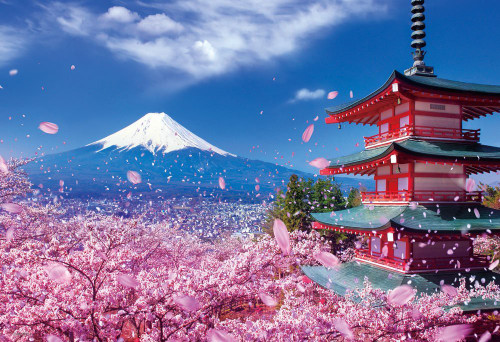 Beverly Jigsaw Puzzle 33-126 Japanese Scenery Mt.Fuji Asama Shrine (300 Pieces)