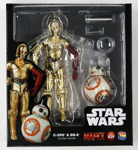 Medicom MAFEX 029 Star Wars The Force Awakens C-3PO & BB-8 Figure Set