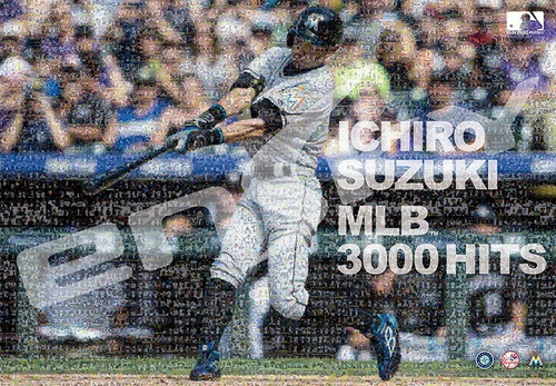 Ensky Jigsaw Puzzle 1000T-51 Ichiro MLB 3000 Hits Mosaic Art (1000 Pieces)