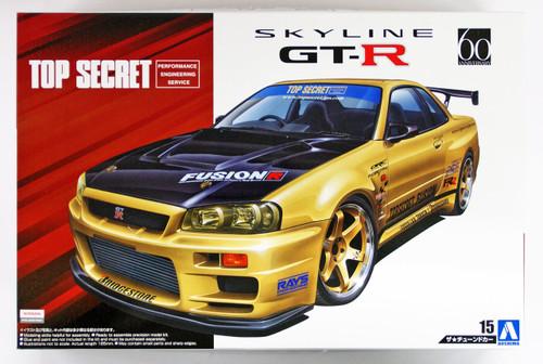 Aoshima 53041 Top Secret BNR34 Skyline GT-R '02 (NISSAN) 1/24 scale kit