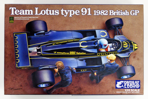 Ebbro 20012 Team Lotus Type 91 1982 1/20 scale plastic model kit