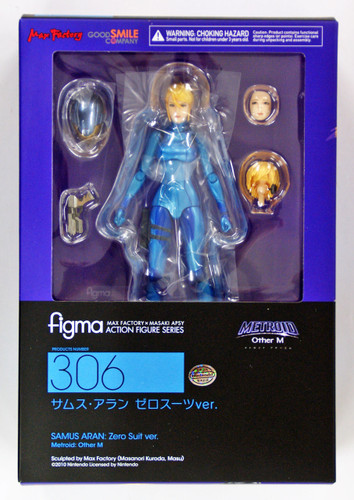Max Factory Figma 306 Metroid Other M Samus Aran Zero Suit Ver. Action Figure