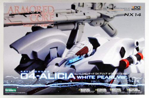 Kotobukiya VI068 Armored Core Rayleonard 04 Alicia White Pearl 1/72 Scale Kit