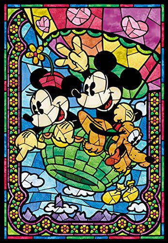 Tenyo Japan Jigsaw Puzzle D-300-285 Disney Balloon Journey Hologram (300 Pieces)