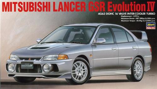 Hasegawa 20257 Mitsubishi Lancer GSR Evolustion IV 1/24 Scale Kit