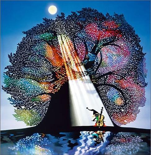 APPLEONE Jigsaw Puzzle 500-241 Seiji Fujishiro Art Moonlight (500 Pieces)