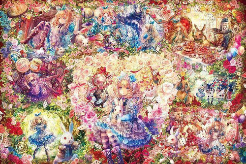 Epoch Jigsaw Puzzle 11-567 Fantastic Art Onineko Alice in Wonderland (1000 Pieces)