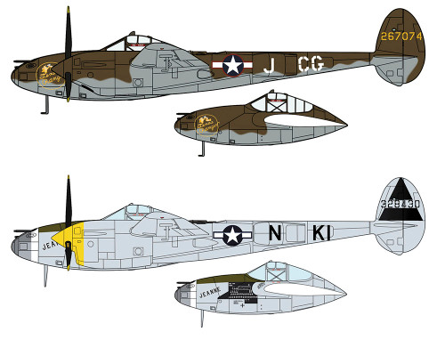"Hasegawa 02225 P-38H/J Lighting ""European Theatre"" 1/72 scale kit"