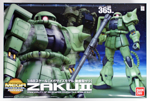 Bandai GUNDAM MEGA Size Model ZAKU II 1/48 scale kit 694805