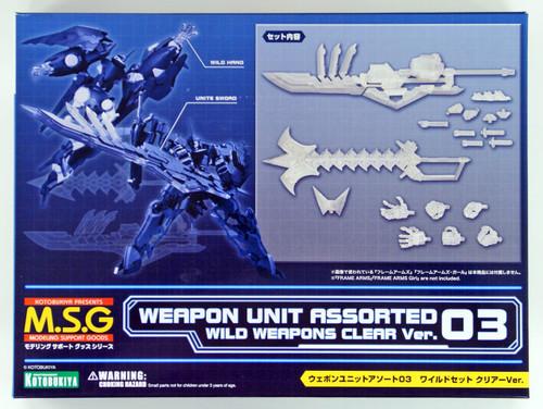 Kotobukiya MSG Modeling Support MW103 Weapon Unit Assorted 03 Wild Set Clear Version