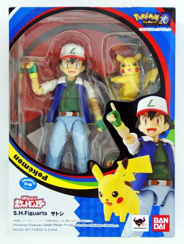 Bandai S.H. Figuarts Pokemon Ash Ketchum with Pikachu (Satoshi) Figure