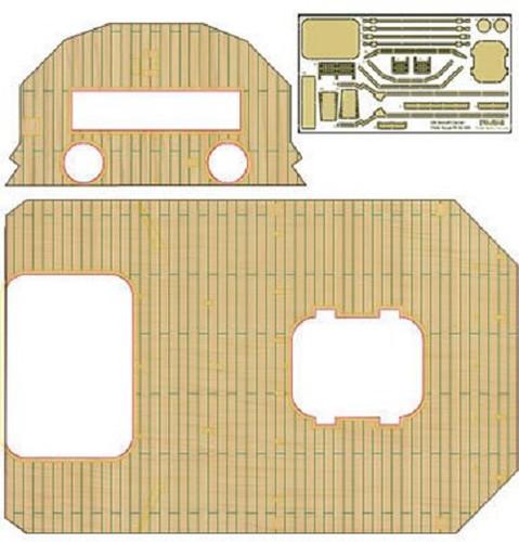 Fujimi TK 114989 Wooden Deck Parts for Chibi-maru Kantai Fleet Ryujo