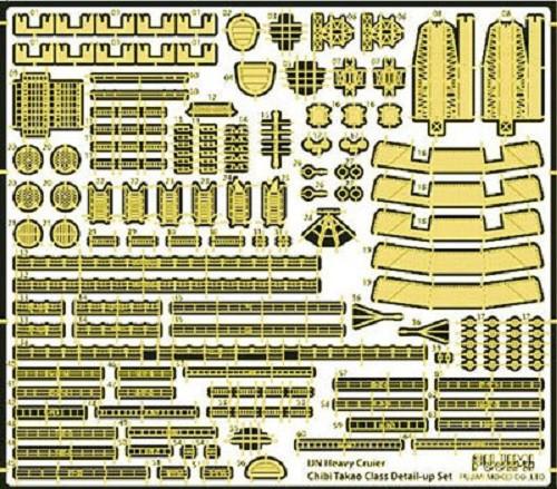 Fujimi TK 115016 Photo Etched Parts for Chibi-maru Kantai Fleet Takao Type