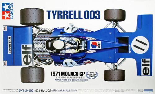 Tamiya 12054 Tyrrell 003 1971 Monaco GP with Photo Etched Parts 1/12 Scale Kit