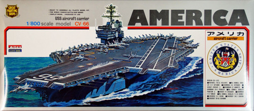 Arii-11 618110 USS Aircraft Carrier America CVA/CV-66 1/800 Scale Kit (Microace)