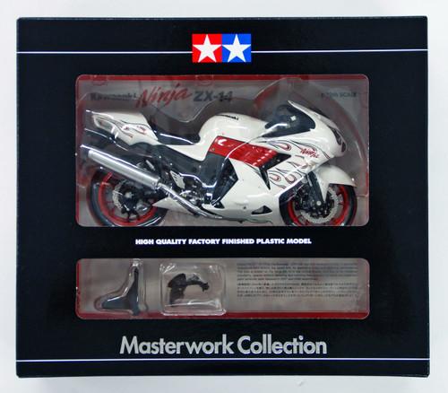 Tamiya 21084 Kawasaki ZX-14 White 1/12 Finished Model Masterwork Collection