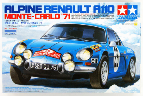 Tamiya 24278 Alpine Renault A110 Monte Carlo '71 1/24 Scale Kit