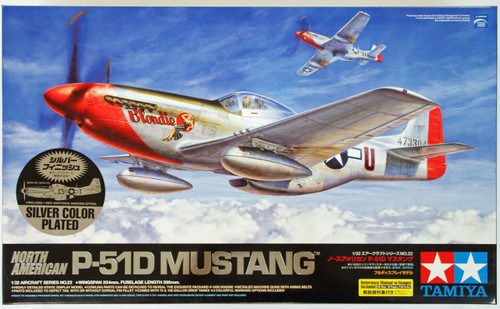 Tamiya 25151 North American P-51D MUSTANG Silver Color Plated 1/32 Scale Kit