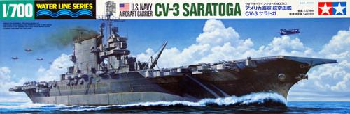 Tamiya 31713 US Navy Aircraft Carrier CV-3 Saratoga 1/700 Scale Kit