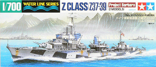 Tamiya 31908 German Z CLASS (Z37-39) Project Barbara 1/700 Scale Kit