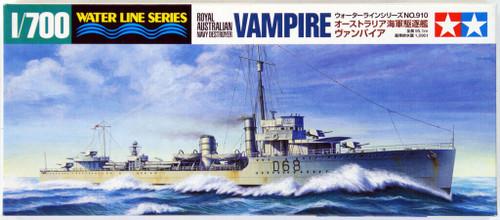 Tamiya 31910 Australian Navy Destroyer VAMPIRE 1/700 Scale Kit