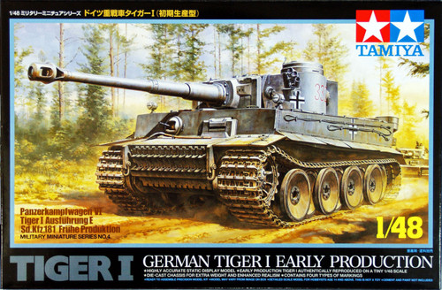 Tamiya 32504 German Tiger I Early Production 1/48 Scale Kit