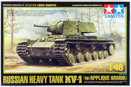 Tamiya 32545 Russian Heavy Tank KV-1B with Applique Armor 1/48 Scale Kit