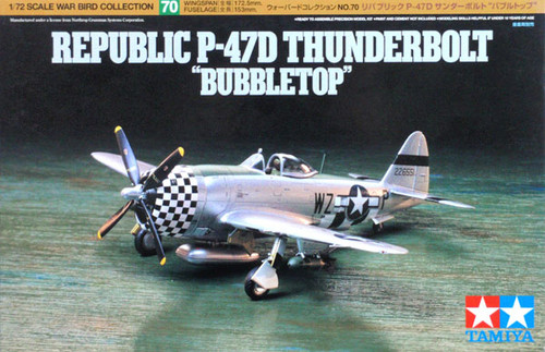 Tamiya 60770 Republic P-47D Thunderbolt Bubbletop 1/72 Kit