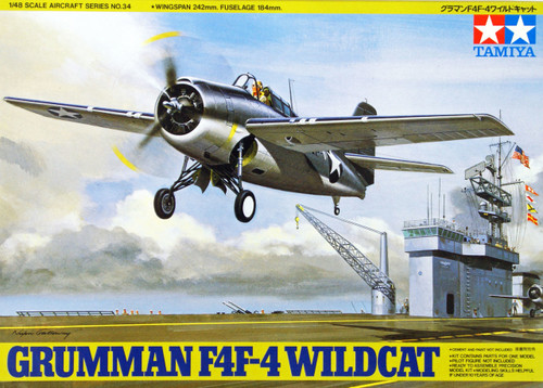 Tamiya 61034 Grumman F4F-4 Wildcat 1/48 Scale Kit