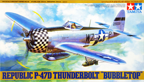 "Tamiya 61090 Republic P-47D Thunderbolt ""Bubbletop"" 1/48 Scale Kit"