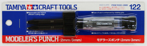 Tamiya 74122 Craft Tools - Modeler's Punch (2mm/3mm)