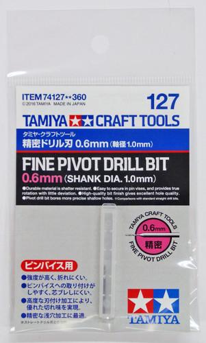 Tamiya 74127 Craft Tools - Fine Pivot Drill Bit 0.6mm (Shank Diameter 1.0mm)