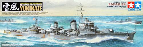 Tamiya 78020 Japanese Navy Destroyer YUKIKAZE 1/350 Scale Kit