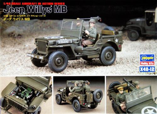 Hasegawa X48-12 Jeep Willys MB 1/48 Scale Kit