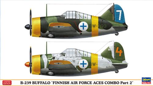 Hasegawa 02229 B-239 Buffalo Finnish Air Force Aces Combo Part 2 1/72 scale kit