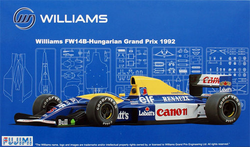 Fujimi GP26 090795 F1 Williams FW14B Hungarian GP 1992 1/20 Scale Kit