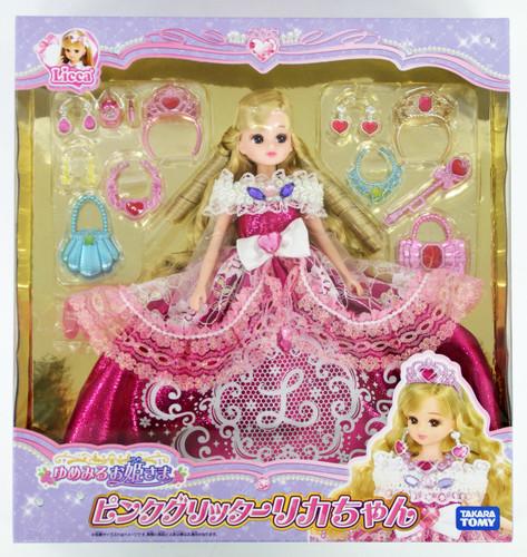 Takara Tomy Licca Doll Dreaming Princess Pink Glitter Licca (888154)