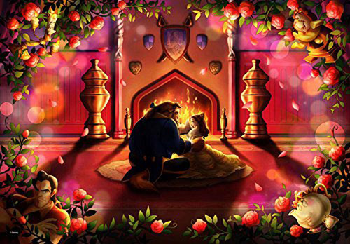 Tenyo Japan Jigsaw Puzzle DPG-500-595 Disney Beauty and the Beast (500 S-Pieces)