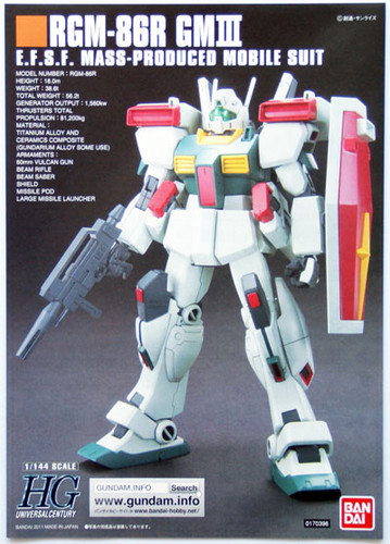Bandai HGUC 126 Gundam RGM-86R GM III 1/144 Scale Kit