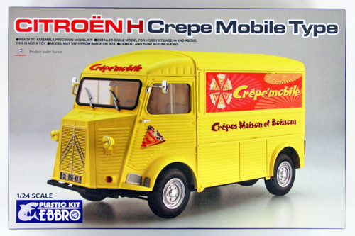 Ebbro 25010 Citroen H Crepe Mobile Type 1/24 Scale Plastic Model Kit
