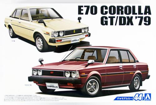 Aoshima 53454 The Model Car 44 Toyota E70 Corolla Sedan GT/DX 1979 1/24 scale kit