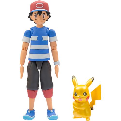 Takara Tomy Pokemon Monster Collection EX Ash & Metalic Pikachu Z-Move Pose 899211